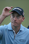 21 March 2010:  Tournament champion Jim Furyk acknowledges the crowd after sinking the winning putt on the 18th hole in the final round at the Transitions Championship Tournament at Innisbrook Golf Resort in Palm Harbor, Florida.