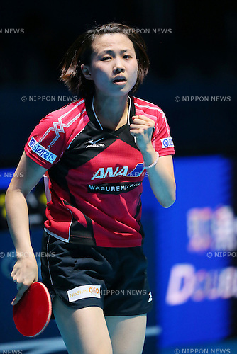 Sayaka Hirano (JPN), <br /> DECEMBER 13, 2014 - Table Tennis : <br /> GAC Group 2014 ITTF World Tour Grand Finals <br /> Women's Singles <br /> at Indoor Stadium Huamark, Bangkok, Thailand <br /> (Photo by YUTAKA/AFLO SPORT) [1040]
