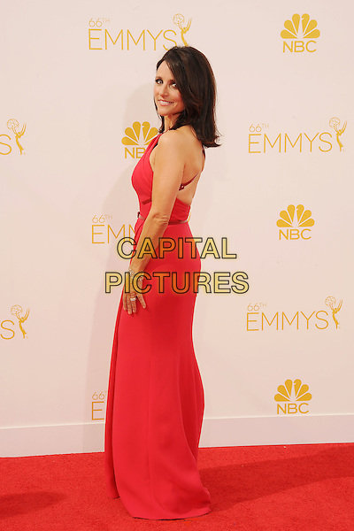 LOS ANGELES, CA- AUGUST 25: Actress Julia Louis-Dreyfus arrives at the 66th Annual Primetime Emmy Awards at Nokia Theatre L.A. Live on August 25, 2014 in Los Angeles, California.<br /> CAP/ROT/TM<br /> &copy;Tony Michaels/Roth Stock/Capital Pictures