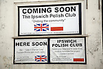 Poster announcing plans for new Polish Club, Ipswich, Suffolk, England