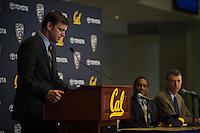 Berkeley, CA - January 17, 2016: Justin Wilcox is announced as the University of California, Berkeley head football coach on Tuesday, January 17, 2016.