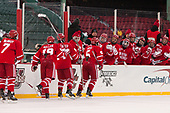 Charlie McAvoy (BU - 7), Clayton Keller (BU - 19), Bobo Carpenter (BU - 14), Chad Krys (BU - 5) - The Boston University Terriers defeated the University of Massachusetts Minutemen 5-3 on Sunday, January 8, 2017, at Fenway Park in Boston, Massachusetts.The Boston University Terriers defeated the University of Massachusetts Minutemen 5-3 on Sunday, January 8, 2017, at Fenway Park.