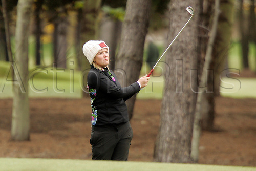 03.05.2012.  East Lothian, Scotland. Rachel Jennings (ENG) In action during the Ladies Scottish Open from the Archerfield Fidra Links Course.
