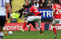 Mouhamadou-Naby Sarr of Charlton Athletic fouls Daniel Johnson of Preston North End during Charlton Athletic vs Preston North End, Sky Bet EFL Championship Football at The Valley on 3rd November 2019