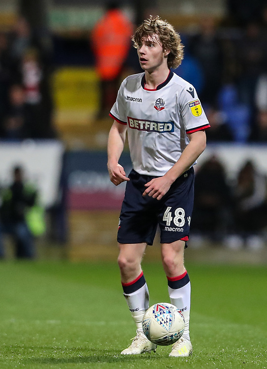 Bolton Wanderers' Luca Connell <br /> <br /> Photographer Andrew Kearns/CameraSport<br /> <br /> The EFL Sky Bet Championship - Bolton Wanderers v Middlesbrough -Tuesday 9th April 2019 - University of Bolton Stadium - Bolton<br /> <br /> World Copyright © 2019 CameraSport. All rights reserved. 43 Linden Ave. Countesthorpe. Leicester. England. LE8 5PG - Tel: +44 (0) 116 277 4147 - admin@camerasport.com - www.camerasport.com