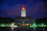 University of Texas Tower Shines Bright after Longhorn Win