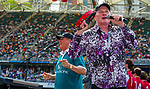 The Beach Boys in concert on Day 2 of the Cathay Pacific / HSBC Hong Kong Sevens 2013 on 23 March 2013 at Hong Kong Stadium, Hong Kong. Photo by Manuel Queimadelos / The Power of Sport Images