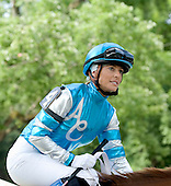 Chantal Sutherland returned to Saratoga to ride in the Amsterdam Stakes.