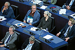 Strasbourg - France - 03 July 2019 -- MEP Teuvo HAKKARAINEN and MEP Laura HUHTASAARI, Identity and Democracy Group - (Perussuomalaiset - Fin.). -- PHOTO: Juha ROININEN / EUP-IMAGES