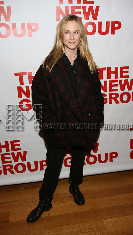 "Holly Hunter attends the Opening Night of The New Group World Premiere of ""All The Fine Boys"" at the The Green Fig Urban Eatery on March 1, 2017 in New York City."