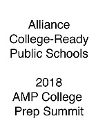 Alliance 2018 AMP College Prep Summit