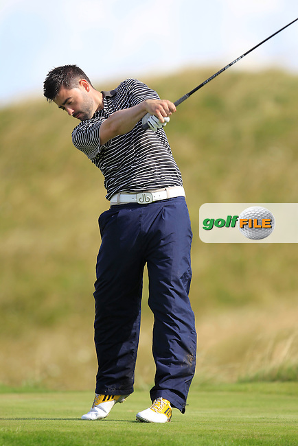 Sean Ryan (The Royal Dublin) on the 14th tee during the South of Ireland Amateur Open Championship Third Round at Lahinch Golf Club  29th July 2013 <br /> Picture:  Thos Caffrey / www.golffile.ie
