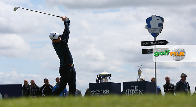 Justin Rose (ENG) starts the Final Round of the 2015 Aberdeen Asset Management Scottish Open, played at Gullane Golf Club, Gullane, East Lothian, Scotland. /12/07/2015/. Picture: Golffile | David Lloyd<br /> <br /> All photos usage must carry mandatory copyright credit (&copy; Golffile | David Lloyd)