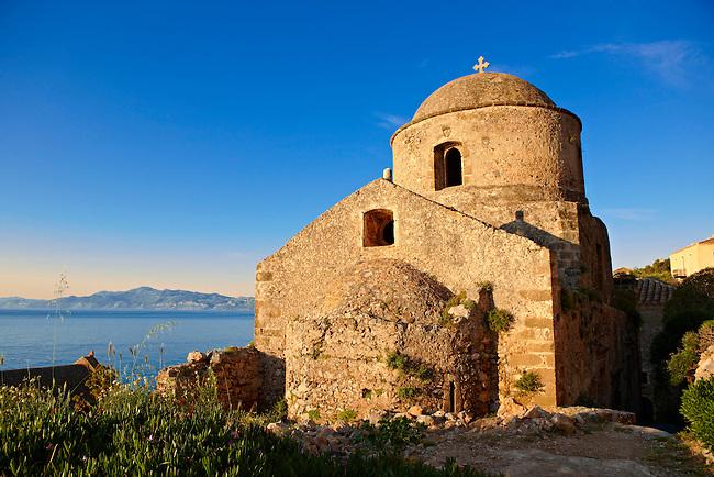 Medieval Byzantine Orthodox Church of Monemvasia (  ),   Peloponnese, Greece