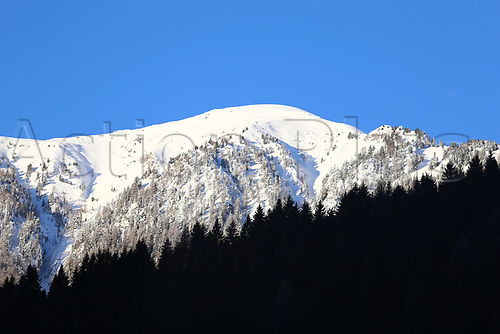 12th January 2018, Val di Fiemme, Fiemme Valley, Italy; FIS Nordic Combined World Cup, Mens Gundersen; Val Di Fiemme surrounding hills