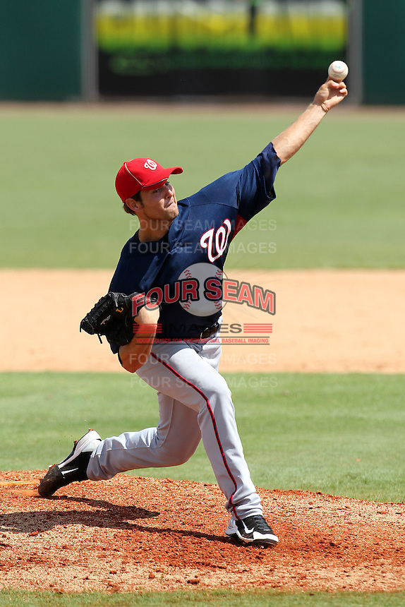 Washington Nationals pitcher Blake Monar #55 during an Instructional League game against the Houston Astros at Osceola County Stadium on September 26, 2011 in Kissimmee, Florida.  (Mike Janes/Four Seam Images)