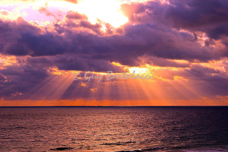 Sunbeams on the Atlantic