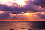 Sunbeams on the Atlantic