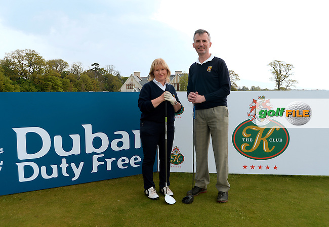 9 May 2016; Denny Lyons and Breda Duggan, from Killarney Golf Club. Dubai Duty Free Irish Open - All-Ireland Final for Pro-Am Qualifying Competition. The K Club Smurfit Course, Straffan, Co. Kildare, Ireland. <br /> Picture: Golffile | Caroline Quinn<br /> <br /> All photo usage must carry mandatory copyright credit (&copy; Golffile | Caroline Quinn)