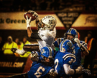 Mt. Carmel's Christian Searles hauls in a touchdown pass for the Caravan's third touchdown