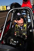 Feb. 17 2012; Chandler, AZ, USA; NHRA super comp driver Brad Plourd during qualifying for the Arizona Nationals at Firebird International Raceway. Mandatory Credit: Mark J. Rebilas-