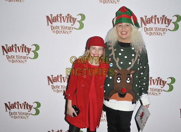 LONDON, ENGLAND - NOVEMBER 02: Romana Bright &amp; Debbie Douglas attend the &quot;Nativity 3: Dude, Where's My Donkey&quot; UK film premiere, Vue West End cinema, Leicester Square, on Sunday November 02, 2014 in London, England, UK. <br /> CAP/CAN<br /> &copy;Can Nguyen/Capital Pictures