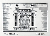 The Alhambra Theatre, Glasgow, a copy of one of the images gifted by actor Tony Roper to the Britannia Panoptican in Glasgow, after he presented the long-lost variety music hall with some ink drawings of old Glasgow theatres. The framed collection was given to Roper by the family of Ricki Fulton - picture by Donald MacLeod 05.03.09