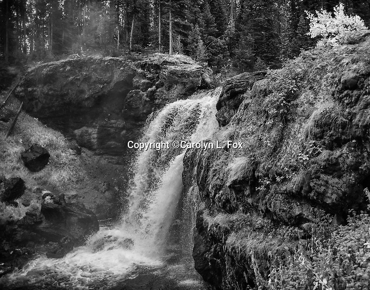 Moose Falls is a beautiful waterfall in Yellowstone National Park.