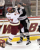 Malcolm Lyles (BC - 23), Ben Farrer (Providence - 14) - The Boston College Eagles defeated the Providence College Friars 4-1 on Tuesday, January 12, 2010, at Conte Forum in Chestnut Hill, Massachusetts.