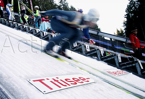 13.12.2013 Titisee-Neustadt Germany. Mens World Cup Ski-Jumping Training and Qualification.