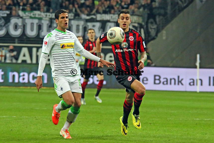 Joselu (Eintracht) setzt sich durch - Eintracht Franfurt vs. Borussia Mönchengladbach, Commerzbank Arena