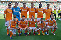 CARSON, CA  March 11, 2012: Houston Dynamo starting lineup prior to the match between Chivas USA and Houston Dynamo at the Home Depot Center in Carson, California. Final score Chivas USA 0, Houston Dynamo 1.