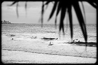 Small waves on the Burleigh Heads beachies - Beach & surf lifestyle photos - Gold Coast, Australia