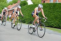20180501 - DOORNIK , BELGIUM : Triathlete Joke Coysman Team Oilservice Deinze pictured during The Belgian Championship Team Triathlon Man and Women , a Team Triathlon in Doornik , Tuesday 1 st May 2018 , PHOTO SPORTPIX.BE | STIJN AUDOOREN