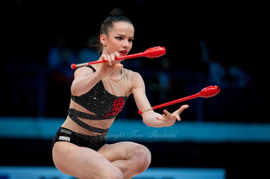 February 27, 2016 - Espoo, Finland - SARA STAYKOVA of Bulgaria performs at Espoo World Cup 2016.