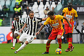 5th November 2017, Allianz Stadium, Turin, Italy; Serie A football, Juventus versus Benevento; Nicolas Viola shields the ball from Gonzalo Higuain