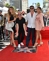 LOS ANGELES, CA. August 22, 2018: Heidi Klum, Howie Mandel, Simon Cowell & Mel B at the Hollywood Walk of Fame Star Ceremony honoring Simon Cowell.