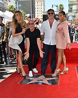 LOS ANGELES, CA. August 22, 2018: Heidi Klum, Howie Mandel, Simon Cowell & Mel B at the Hollywood Walk of Fame Star Ceremony honoring Simon Cowell.