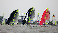Medemblik - the Netherlands, May 26th 2010. Delta Lloyd Regatta in Medemblik (26/30 May 2010). Day 1. 49er.