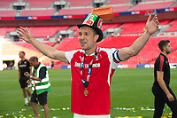 Rotherham Richard Wood after  the Sky Bet League 1 Play Off FINAL match between Rotherham United and Shrewsbury Town at Wembley, London, England on 27 May 2018. Photo by Andrew Aleksiejczuk / PRiME Media Images.