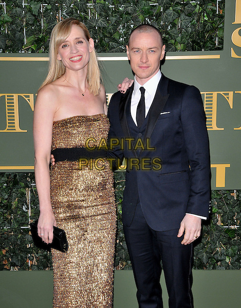 Anne-Marie Duff &amp; James McAvoy attend the London Evening Standard Theatre Awards 2015, The Old Vic, The Cut, London, England, UK, on Sunday 22 November 2015.<br /> CAP/CAN<br /> &copy;CAN/Capital Pictures