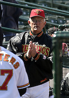 April 11, 2004:  Manager Phil Roof of the Rochester Red Wings, Triple-A International League affiliate of the Minnesota Twins, during a game at Frontier Field in Rochester, NY.  Photo by:  Mike Janes/Four Seam Images