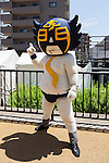 A mascot called Come on Toranomon performs during the ''Local Characters Festival in Sumida 2015'' on May 30, 2015, Tokyo, Japan. The festival is held by Sumida ward, Tokyo Skytree town, the local shopping street and ''Welcome Sumida'' Tourism Office. Approximately 90 characters attended the festival. According to the organizers the event attracts more than 120,000 people every year. The event is held form May 30 to 31. (Photo by Rodrigo Reyes Marin/AFLO)