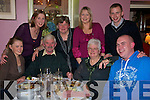 Having a laugh at women's christmas in Allos restaurant, Listowel were Elaine and Joe Riordan, Mary Tully, Noel Kelly, Joanne and Breda Riordan, A?ine Keane and Daniel Riordan, from Lisselton..