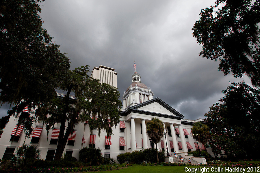 TALLAHASSEE, FLA. Aug. 7, 2012-CAPITOL080712 CH-Afternoon storm clouds precede a summer rain Aug. 7, 2012 at the Capitol in Tallahassee..COLIN HACKLEY PHOTO