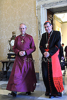Archbishop of Canterbury Justin Welby, Cardinale Kurt Koch,Pope Francis meets His Grace Justin Welby, Archbishop of Canterbury and Primate of the Anglican Communion,at the Vatican  14 June 2013.