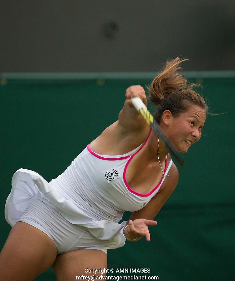 TARA MOORE (GBR)<br /> <br /> The Championships Wimbledon 2014 - The All England Lawn Tennis Club -  London - UK -  ATP - ITF - WTA-2014  - Grand Slam - Great Britain -  24th June 2014. <br /> <br /> &copy; AMN IMAGES