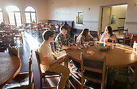 Students eat in the Marketplace, Feb. 20, 2013.  (Photo by Marc Campos, Occidental College Photographer)