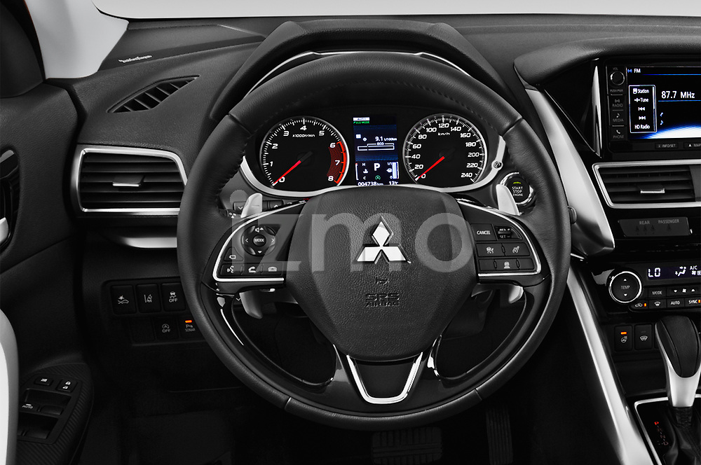 Car pictures of steering wheel view of a 2019 Mitsubishi Eclipse-Cross SEL 5 Door SUV