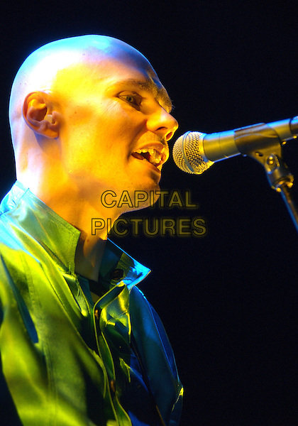 BILLY CORGAN - THE SMASHING PUMPKINS. The Smashing Pumpkins performs to a Sold Out crowd on their 2007 North American Tour held at the LC Pavillion, Columbus, Ohio, USA..October 11th, 2007.headshot portrait stage concert live gig performance music .CAP/ADM/DS.©Devin Simmons/AdMedia/Capital Pictures.